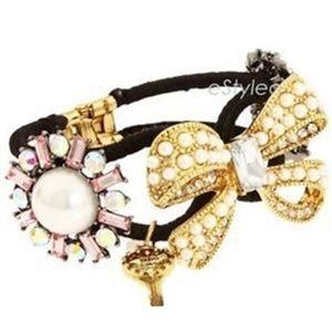 Betsey Johnson Hinged Bangle Bracelet NEW